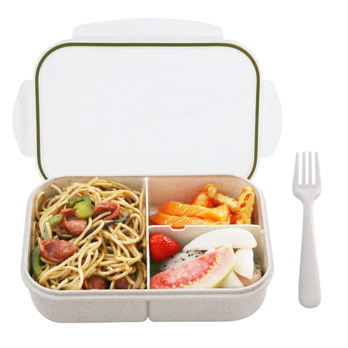Leakproof With 3 Compartments FDA Approved and BPA-Free Bento Lunch containers For Kids By BusyMouth Bento Box,Bento Box for Kids