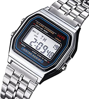 Casio Casual Watch For Unisex Digital Stainless Steel - A159WA A159