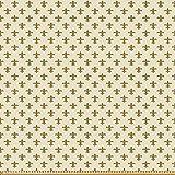ABAKUHAUS Retro Microfaser Stoff als Meterware, Blume des