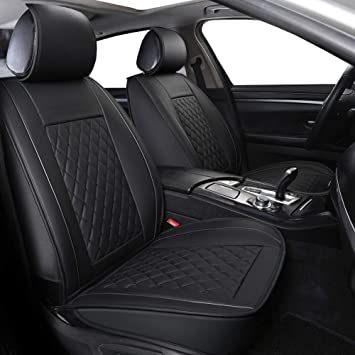 For Chevrolet New Black and Blue Cloth Car Truck Seat Covers With Mats Full Set