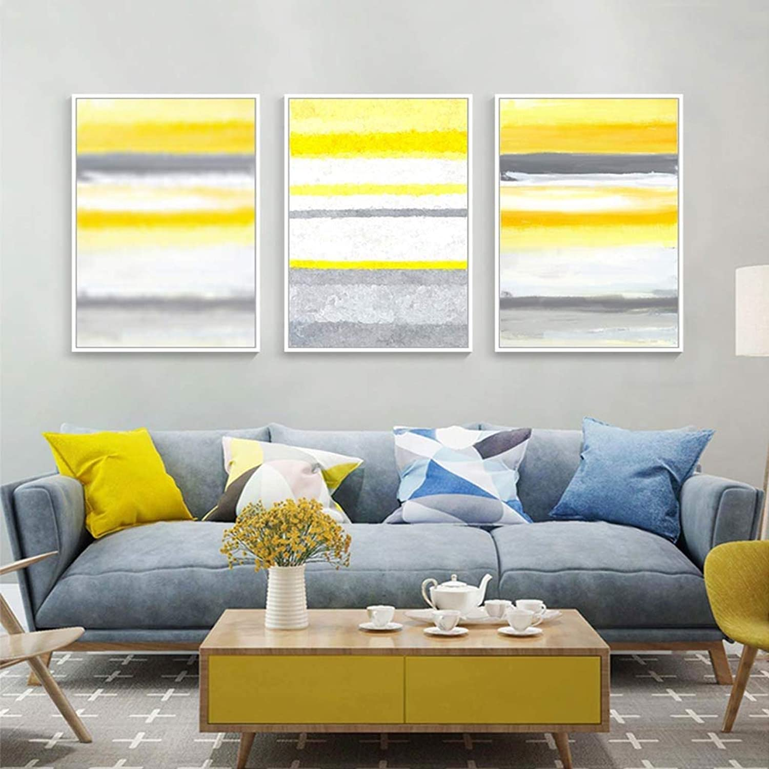 WENJUN Wall Art Picture Art On Canvas Modern Decorative Artwork Abstract Art Wall Painting For Home Decoration Wall Decor,3 Piece,5 colors,3 Sizes ( color   D , Size   5070CM )
