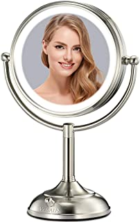 """VESAUR Professional 10"""" [Large Tall Size] Lighted Makeup Mirror, 3 Color Lighting, 1X/5X..."""