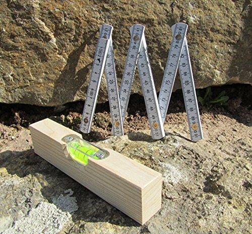 CORVUS Kinder Wasserwaage & Meterstab Werkzeug 2er Set Top Qualität