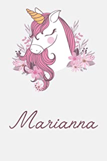 Marianna And Unicorn: Great Gifts Notebook for Women, Girls, Wives, Mom, Aunt, kids Friends | Fun Spy Games for Holiday | ...