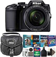 Nikon Coolpix B500 16MP 40x Zoom Digital Camera Black with Photo Editing and Kids Scrapbooking Collection Software and More Accessories