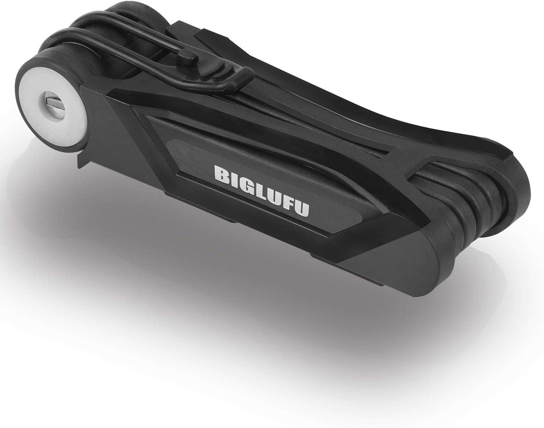 BIGLUFU Folding Bike Lock Heavy Duty Fold Steel Alloy Structure sale Now free shipping
