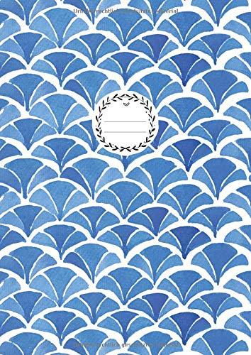 BLANKO NOTIZBUCH A4: 100+ Seiten Leer | Journal zum Gestalten, Hand Lettering, Skizzenbuch, Notizheft, Blankobuch, Malbuch | Weißes Papier | Soft Cover Gebunden | Wasserfarben Blau