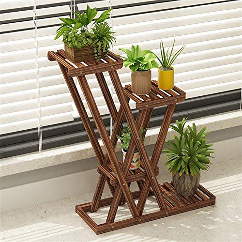Stand de fleur de salon en bois massif Balcon de style européen Simple plante en pot Stand