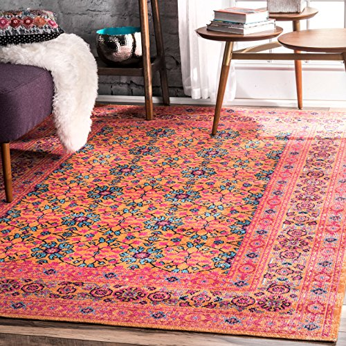 nuLOOM Mirella Vintage Area Rug, 4' x 6', Orange