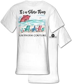 It's A Shore Thing Beach White Comfort Cotton Blend Novelty T-Shirt