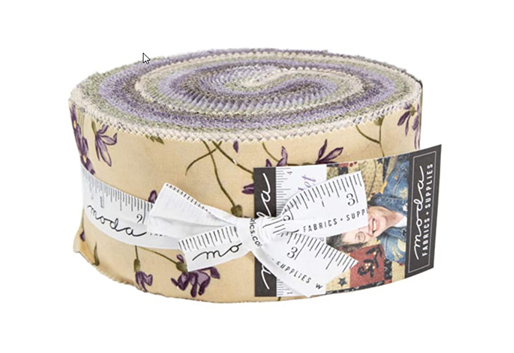 Sweet Violet Jelly Roll 40 2.5-inch Strips by Jan Patek for Moda Fabrics