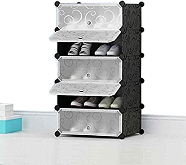 Zizer 5 Tier Shoe Rack, Plastic Shoe Organizer, Utility Storage Shelf Rack, Shoe Cabinet, Shoe Rack For Entryway, Shoe Storag