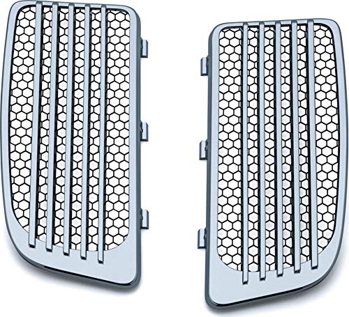 Kuryakyn 7681 Motorcycle Accessory: Radiator Grills for 2014-19 Harley-Davidson Twin Cooled Motorcycles, Chrome, 1 Pair