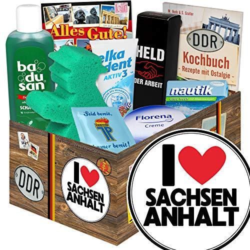 I Love Sachsen-Anhalt ++ Sachsen-Anhalt Andenken ++ Pflege Box DDR