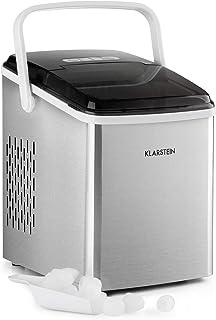KLARSTEIN Arctic Porter - Machine à glaçons 12kg / 24h, 2 tailles, temps de production : 8 mn, glaçons par cycle: 9, réser...