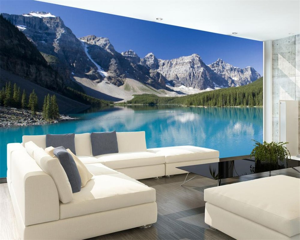 Wall Murals,Wallpaper Snow Sale Mountain Lake Painting Ba Landscape Popular standard