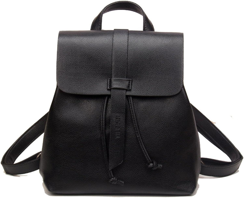 98de9abf8bcf Backpack Fashion Soft Leather Ladies Bag,Black,25X26X11Cm ...