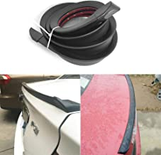 1.5m/4.92ft Universal Car Rubber Strip Bar Spoiler Tailfin Tail Fin Rear Wing Tailgate Hatchback for Most Popular Carsh
