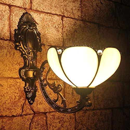 TOYM 8 inch Continental Tiffany lampen retro minimalistische spiegel lichten aan de voorzijde slaapkamer bed wandlamp