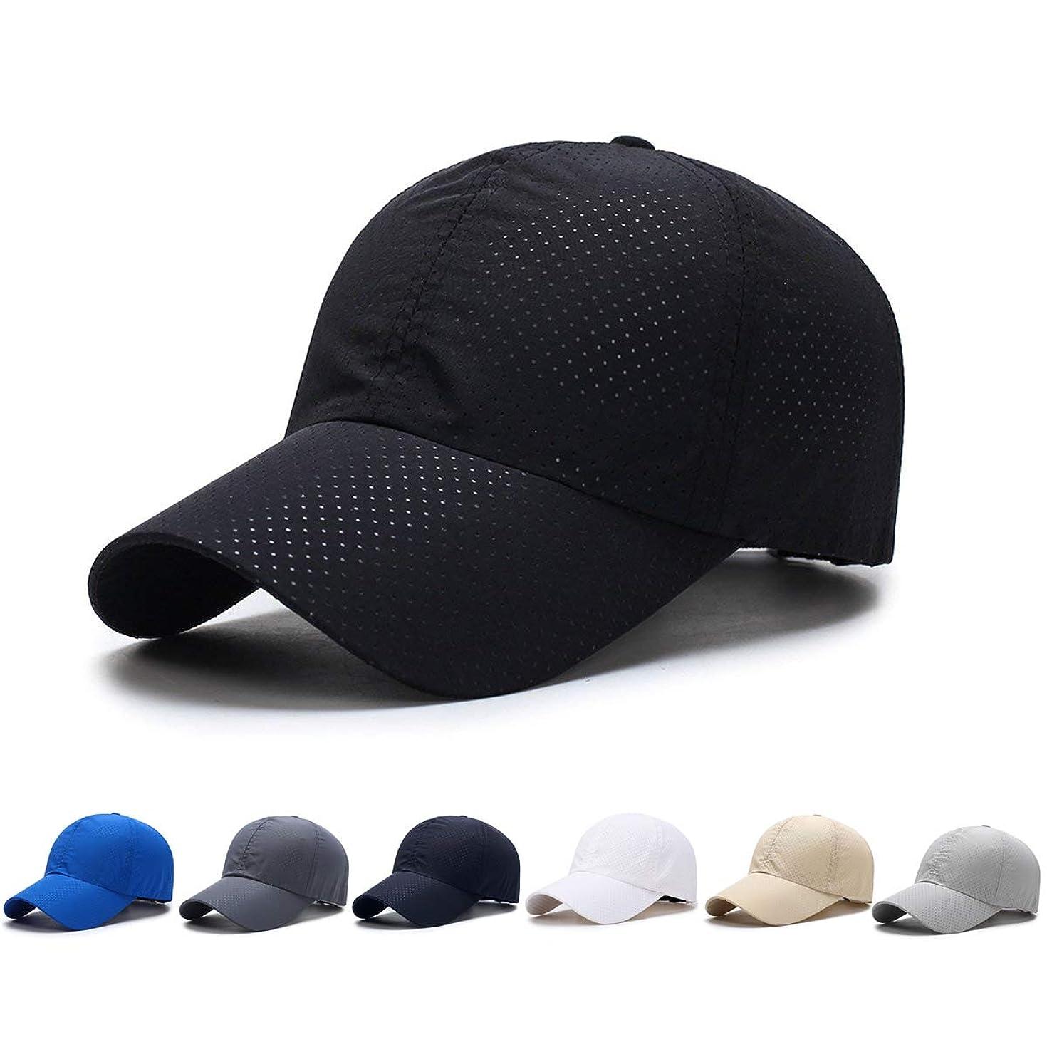 必要とするシニス人里離れたキャップ 野球帽 男女兼用 通気性抜群 日除け 紫外線対策 調節可能 登山 釣り ズゴルフ帽子 メッシュ帽