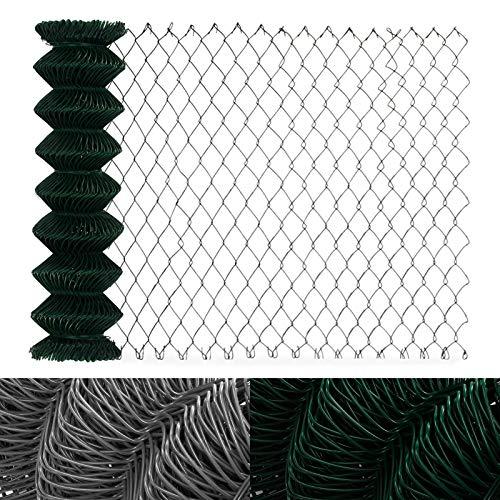 casa pura Clôture Grillage Vert   Tailles au Choix   Mailles 60x60mm   avec Couche en PVC   résistant aux intempéries, 1x15m