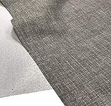 A-Express Aspecto de Lino Tela Suave Cortinas Bolsa Diseñadora de Ropa Material de modista 145cm ancho - 2 Metro (200cm x 145cm) Gris piedra