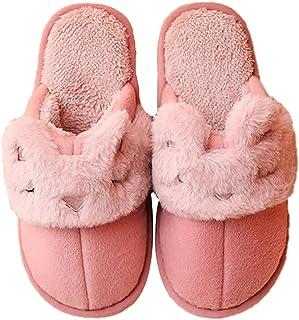 SalLady Home Slippers Plush Simple Universal Unisex Soft Breathable Winter Slides for Women Men Fashion Plastic