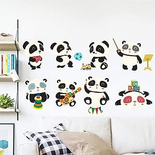 Fine Cartoon Panda Wall Sticker, Vinyl Decal Art Mural Cute Cartoon Wall Decor Decals for Bedroom Sofa TV Home Decoration