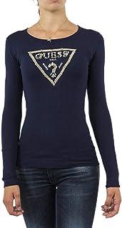 pas cher Femme Pulls Guess pull hiver w74r74 isa bleu bleu