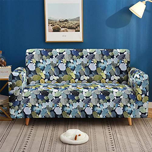 HXTSWGS Protector elástico para Muebles,Funda de sofá elástica con impresión 3D, Funda de sofá de Sala de Estar, Funda Protectora de sofá, Funda de sillón reclinable para sofá Cama-Color2_235-300cm
