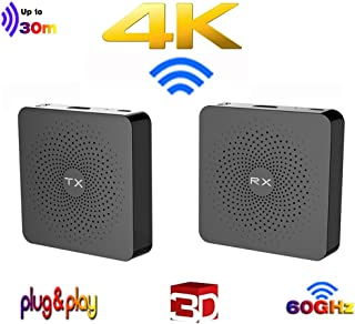 MEASY W2H 4K Wireless HDMI Extender Zero Latency 30M (100ft) 4K@30Hz HDCP 2.2 with CEC Function for Gaming, Live TV and De...