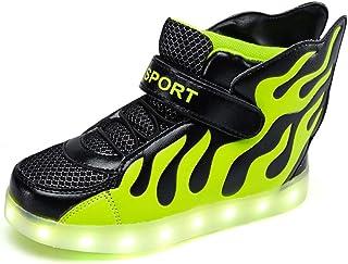 Licy Life-UK Kids 'LED Mode Schoenen Oplichten Sneakers Trainers met Vleugels 7 Kleuren Knipperende Licht voor Jongens Mei...