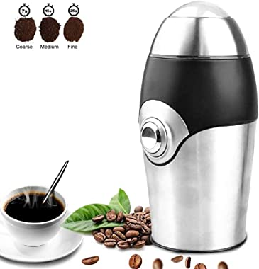 Electric Coffee Grinder Blade Mill,8 Cups,200W Stainless Steel Powder Grinding Machine for Nuts Herbs,Grains,Spices,Sugar