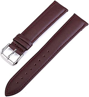watchbands Grains 22mm Watch Band Leather Watch Straps 10 24mm Watchbands Watch Accessories 20mm Watch strap-Brown-19mm