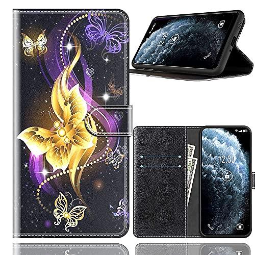 Sinyunron Handy Schutzhülle Kompatibel mit DOOGEE BL12000 Hülle Handy Tasche Hülle Handyhülle Lederhülle mit Kartenfächer,Ständer,Magnetverschluss,Hülle03C