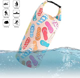 Waterproof Dry Bag Compression Roll Top Sack for Women Girls Fashion Unique Pattern Lightweight 10L Floating Kayaking Boating Rafting Diving Surfing Gym Yoga Swimming Hiking 5L/10L/20L