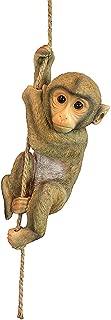 Chico The Premium Decorative Design Chimpanzee Baby Monkey Hanging Animal Statue, 16 Inch, Polyresin, Full Color Garden Patio Décor Backyard Outdoor