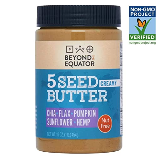 Beyond the Equator 5 Seed Butter - Nut Free, Low Carb, Keto, Non-GMO - Creamy 1 pack