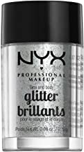 NYX PROFESSIONAL MAKEUP Face & Body Glitter, Ice, 0.08 Ounce