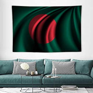 HoMdEfW Christmas Tapestry Flag of Bangladesh Towel Throw Tapestry Decor,Great Decoration for Your Children Bedroom,Living Room 93W x 70L inch