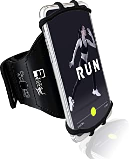Revere Sport Universal iPhone Running Armband (X/XS/XR/11/10/8/7/6/Plus/Max/Pro). Exercise Phone Holder Case
