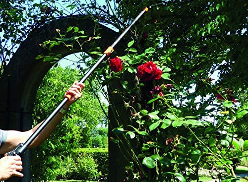 Garten Primus 01410 Sécateur télescopique pour Rosier, Noir/Orange, 137,5x 9x 3,1cm