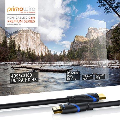 CSL - 10m HDMI Kabel 2.0a 2.0b - Ultra HD 4k 60Hz - neuester Standard - High Speed HDMI 2.0 - Ultra HD Full HD 1080p - 3D ARC CEC HDCP HDR - 3-Fach geschirmt - bis zu 18 Gbit s - schwarz