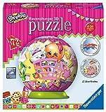 Ravensburger - Puzzle 3D - Shopkins - 72 Habitaciones - Ø 13 cm Puzzleball