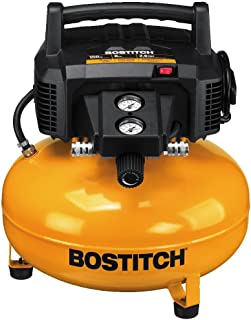 BOSTITCH Pancake Air Compressor, Oil-Free, 6 Gallon, 150 PSI (BTFP02012)