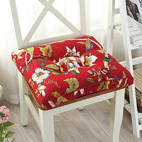 Baozengry Coussin De Chaise De Bureau Coussin Tatami,45*45Cm,Rouge Vent Chinois