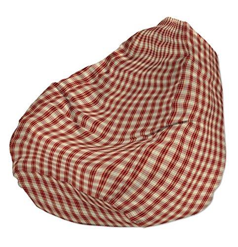 Dekoria Poltrona a sacco Ø60 x 105 cm beige-rosso