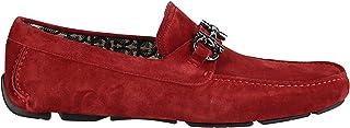 Luxury Fashion | Salvatore Ferragamo Men 0723278 Red Suede Loafers | Spring-summer 20