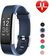 LETSCOM ID115Plus HR Fitness Tracker HR, Activity Tracker Watch with Heart Rate Monitor, Waterproof Smart Bracelet with St...