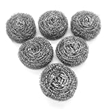 6 Pack Stainless Steel Sponges, Scrubbing Scouring Pad, Steel Wool Scrubber for Kitchens, ...